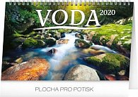 Kalendář stolní 2020 - Voda CZ/SK, 23,1 × 14,5 cm