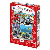 Puzzle 2x48 Hasiči a policie