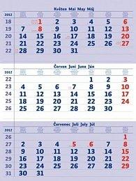 Tříměsíční pracovní 2012 - nástěnný kalendář