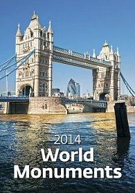 Kalendář 2014 - World Monuments - nástěnný