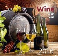 Kalendář nástěnný 2016 - Víno - Wine