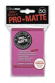 UltraPRO: 50 DP PRO Matte obaly - jasně růžová