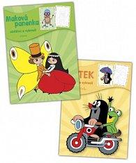 Balíček 2 ks Krtek + Maková panenka - omalovánky