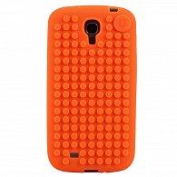 Samsung S4 Pixel Case Oranžová