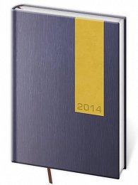 Diář 2014 - denní A5 Eclipsse modrá/žlutá