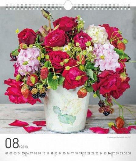 Náhled Kalendář nástěnný 2018 - Květiny
