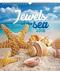Kalendář nástěnný 2018 - Klenoty moře