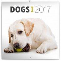 Kalendář poznámkový 2017 - Psi