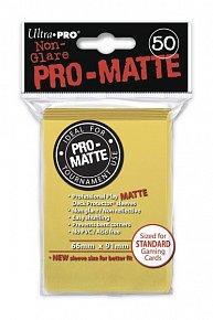 UltraPRO: 50 DP PRO Matte obaly - žlutá