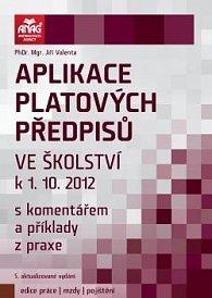Aplikace platových předpisů ve školství k 1. 10. 2012