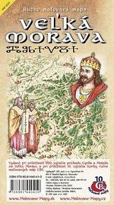 Ručne maľovaná mapa Veľká Morava
