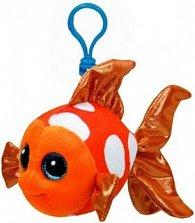 Plyš očka přívěšek oranžová ryba
