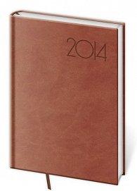 Diář 2014 - denní A5 Print - anglická červená