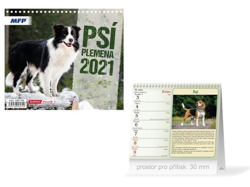 Kalendář 2021 stol: Mini Psí plemena