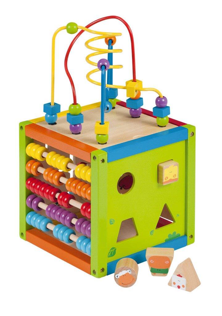Dřevěné hrací centrum - kostka - Johntoy