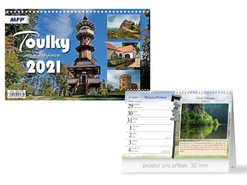 Kalendář 2021 stol: Toulky naší krajinou