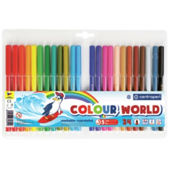 Centropen Fixy COLOUR WORLD 7550 trojboké, sada 24 barev