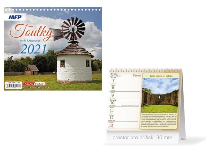 Kalendář 2021 stol: Mini Toulky naší krajinou