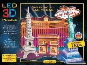 LED 3D Puzzle Vítejte v Las Vegas