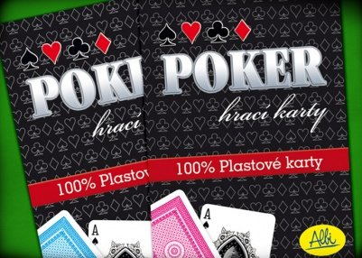 Náhled Poker plastové karty modré