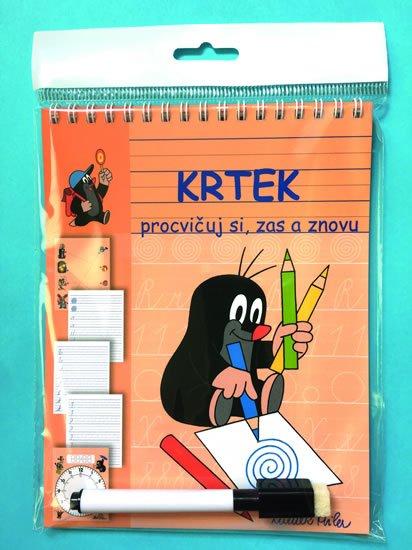 Krtek - Stíratelné listy A5 s popisovačem – Procvičuj si, zas a znovu - Zdeněk Miler